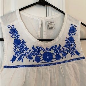 Bohemian blue embroidered top